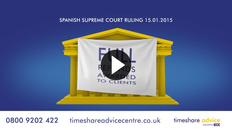 TIMESHARE ADVICE - FULL REFUNDS AWARDED TO SPANISH TIMESHARE OWNERS